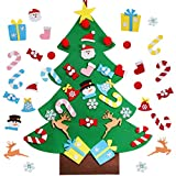 OurWarm DIY Felt Christmas Tree with Ornaments, 3ft Felt Christmas Tree for Kids, Xmas Gifts and Christmas Door Wall Hanging Decor