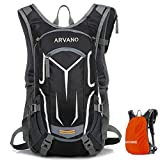 Arvano Mountain Bike Backpack Cycling Backpack - 16L Biking Daypack Ski Rucksack Breathable Waterproof with Rain Cover, Hydration Pack for Running Riding Skiing Fits Men Women
