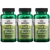 Swanson Fruit & Vegetable Blend 60 Veg Caps 3 Pack