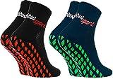Rainbow Socks - Femme Homme Chaussettes Antidérapantes de Sport - 2 paires -...