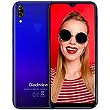 Smartphone débloqué 4G, Blackview A60 Pro (2020) Ecran 6,1 Pouces Android 9.0, 3Go RAM+16Go ROM Dual SIM Téléphone Mobile Double caméra 8MP+5MP, Batterie 4080mAh - Reconnaissance Faciale/Fingerprint