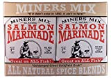 Miners Mix - Gourmet Salmon Marinade Dry Mix Is Not Just For Salmon; It's Great For All Fish That Swam. Bake Or Grill Whole Or As Fillets Directly On Grate Over Charcoal Or Gas. 4 Pack