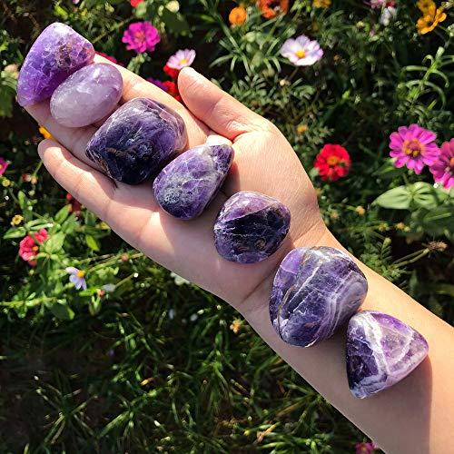 Zenkeeper 7 Pcs Large Amethyst Crystal- Amethyst Healing...