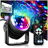 Party Lights Disco Ball Disco Lights, TONGK 7 Colors Dj Lighting Led Strobe Light Sound Activated Stage Lights Effect Dj Equipment With Remote Control with Kids Festival Birthday Xmas Wedding Bar Club