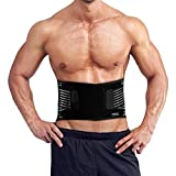 Waist Trimmer Belt,Weight Loss Wrap, Slim Body Sweat Sauna Belt for Men and Women,Stomach Fat Burner,Back Lumbar Support-for Workout, Gym, Posture, Lifting, Work, Pain Relief (L)