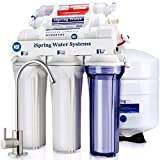 iSpring RCC7AK 6-Stage Under Sink Reverse Osmosis Drinking Water Filter System, NSF Certified, 75 GPD, Superb Taste High Capacity Filtration with Natural pH Alkaline Remineralization