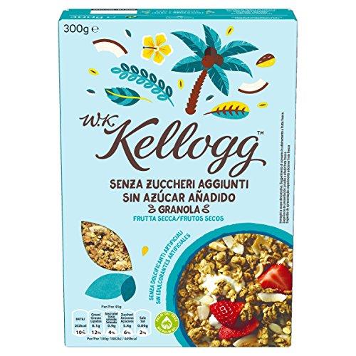 W. K. Kellogg Granola Sin azúcares añadidos Frutos Secos -