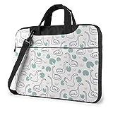 15.6″Durable Hombro Mensajero Bolsa maletín PC Cisne y libélula Moda Impermeable Ordenador Portátil/portátil/Tablets