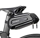 ROCKBROS Bike Saddle Bag Bicycle Saddle Bag Under Seat 3D Hard Shell Bike Seat Bag with Silver Reflective Strip Waterproof Bike Bag Saddle Bags for Mountain Road Bikes, Quick Release