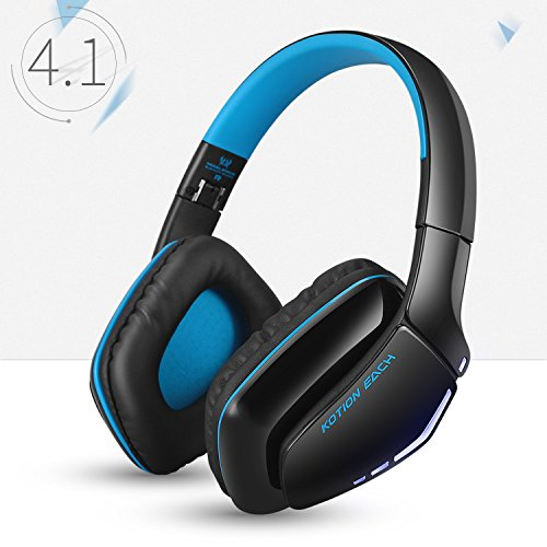 KOTION EACH ワイヤレスヘッドホン 高音質Bluetooth ヘッドセット ヘッドホン マイク内蔵 PS4有線ヘッドホン ゲーミングヘッドセット 密閉型/折りたたみ式 有線と無線両用