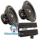 pkg Sundown Audio (2) E-12 V3 D4 12' Subwoofers + SAE-1000D Monoblock Amplifier