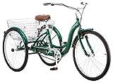 Schwinn Meridian Adult Trike, Three Wheel Cruiser Bike, 1-Speed, 26-Inch Wheels, Green
