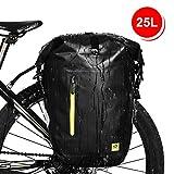 WATERFLY Bike Pannier Bag Waterproof Adjustable Large Bike Rear Bag Bicycle Cargo Rack Cycling Accessory for Mountain Road Bike