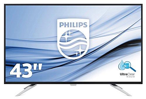 """Philips Monitores BDM4350UC - Pantalla para PC de 43"""" UHD 4K (resolución 3440 x 2160 Pixels, tecnología WLED, Contraste 1000:1, 5 ms, FlickerFree, Altavoces, VESA, Displayport HDMI)"""