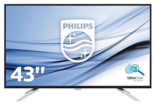 "Philips Monitores BDM4350UC - Pantalla para PC de 43"" UHD 4K (resolución 3440 x 2160 Pixels, tecnología WLED, Contraste 1000:1, 5 ms, FlickerFree, Altavoces, VESA, Displayport HDMI)"
