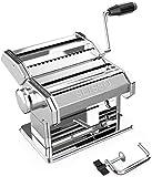 SEISSO 150 Machine à Pâtes Laminoir à Pâtes en Acier Inoxydable pour Tagliatelle Spaghettis Lasagnes Ravioles (Argent)
