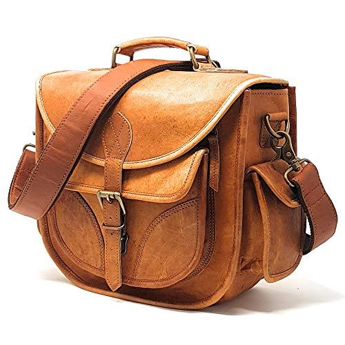 Leather Camera Bag, Travel Vintage Crossbody...