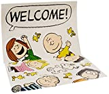 Eureka Charlie Brown Welcome Back to School Classroom Door Bulletin Board Decoration Set, 15 pcs