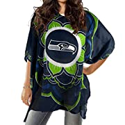 Officially licensed NFL, NHL, NCAA womens caftan This 100% polyester caftan is perfect as a swimsuit coverup or over a turtleneck for gameday light and versatile item shows off your team spirit with a team logo on the front and a wordmark on the back...