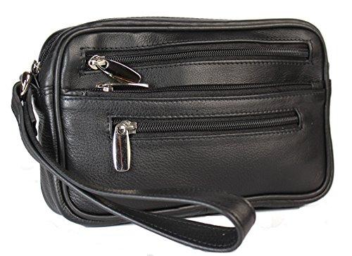 Christian Wippermann Handgelenktasche aus Rindleder Herrentasche echtes Leder Tasche Bag