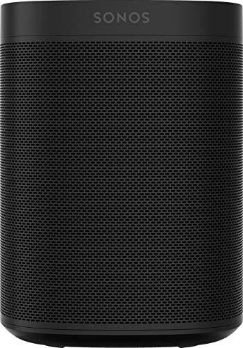 Sonos One Smart Speaker, schwarz – Intelligenter WLAN Lautsprecher mit Alexa Sprachsteuerung, Google Assistant & AirPlay – Multiroom Speaker für unbegrenztes Musikstreaming, mit Sprachsteuerung