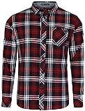 Tokyo Laundry Wilding Chemise manches longues en flanelle à carreaux pour homme - Rouge - Small