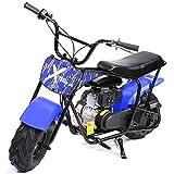 XtremepowerUS Pro-Series 80cc Off Road Dirt Bike 4-Stroke Kids Dirt Mini Kid Gas-Powered Dirt Bike Off Road Dirt Bikes Trail Mini Bike, Blue