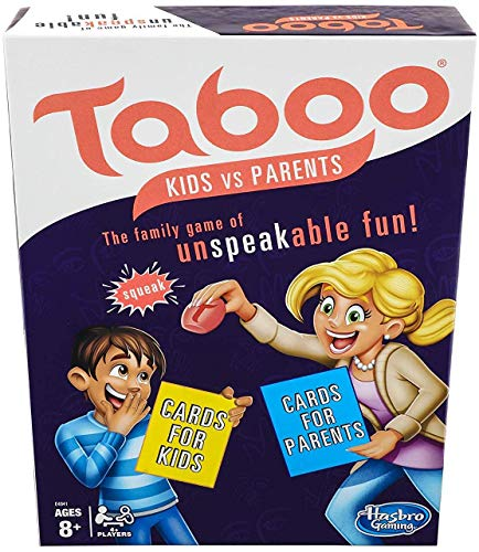 Taboo Kids vs. Parents Family Board Game Ages 8 and Up