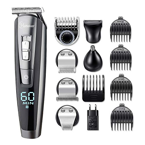 Hatteker Barber Electric Cortapelos Professional Man Cutter Hair Cutter Hair Rechargeable shaver Trimmer Beard and Precision Waterproof 5-in-1