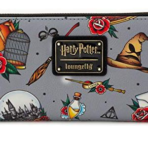 Loungefly Harry Potter Relics All Over Tattoo Print Wallet