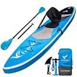 """Freein All Around Inflatable Stand Up Paddle Board W/Kayak Conversion Kit -10' 6"""" Long, 31"""" Wide - Includes Kayak Seat, Single/Dual Blade Paddle, Hand Pump, Travel Backpack, Ankle Leash"""
