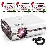 CRENOVA XPE496 Mini Projector, Full HD 1080P and 170'' Display...