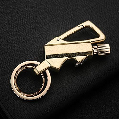 AINEKUI Briquet en métal avec briquet et décapsuleur, porte-clés...