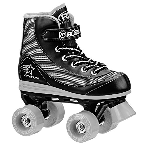 Roller Derby 1378-12 Youth Boys Firestar Roller Skate, Size 12, Black/Gray
