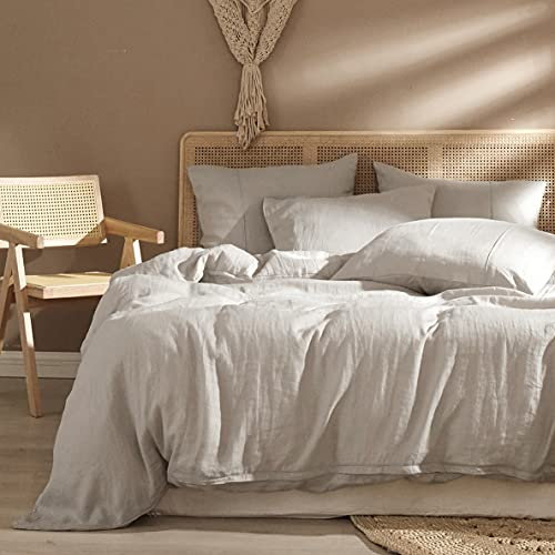 HYPREST 100% Pure French Linen Duvet Cover with...