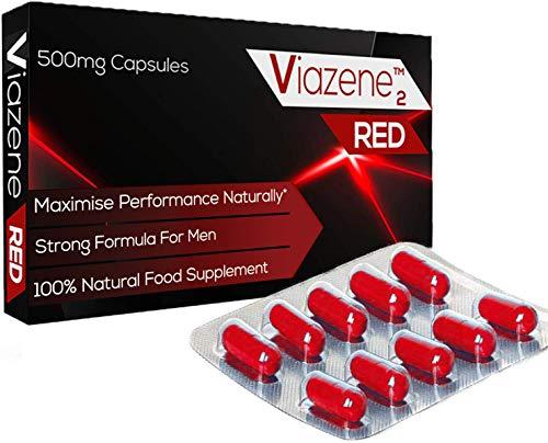 Superstarkes Viazene RED Für Aktive Männer - Natürlicher Verstärker für Leistung, Energie und Ausdauer (Packung von 10 Kapseln)