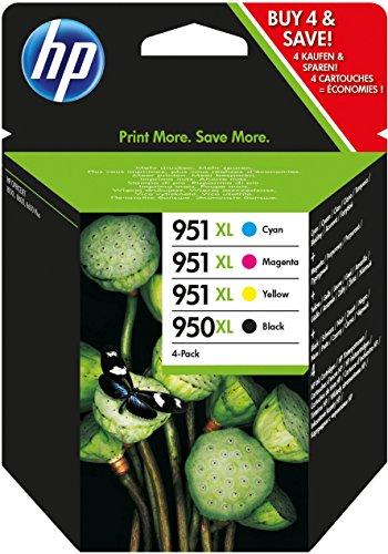 HP 950XL/951XL | 4 cartridges: zwart, cyaan, magenta en geel | Extra grote variant