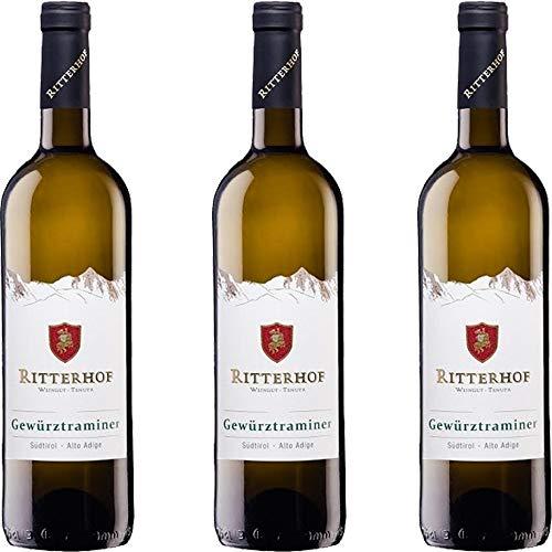 Gewurztraminer Ritterhof | Alto Adige DOC | Vino Bianco Altoatesino | Trentino | 3 Bottiglie da 75 Cl | Idea Regalo