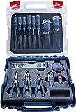 Bosch Professional Profi Handwerker-Set (Schraubendreher, Zangen, Maßband, Wasserwaage, Klappmesser, weitere 19 Teile, in L-Case)