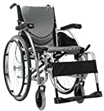 Karman Ergonomic Wheelchair in 20' Seat and Quick Release Axles, Pearl Silver Frame