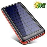 SWEYE Batterie Externe Solaire 26800mAh【Type-C Charge Rapide】, Chargeur Solaire Portable avec 2 USB Ports...
