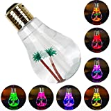 CHUNGHOP USB Air Humidifier Bulb with 7 Colors Lamp Shape Decorative Lights Diffuser Purifier Atomizer with Colorful LED Night Light for Office Desk Bedroom Living Room Home Decor (Gold)