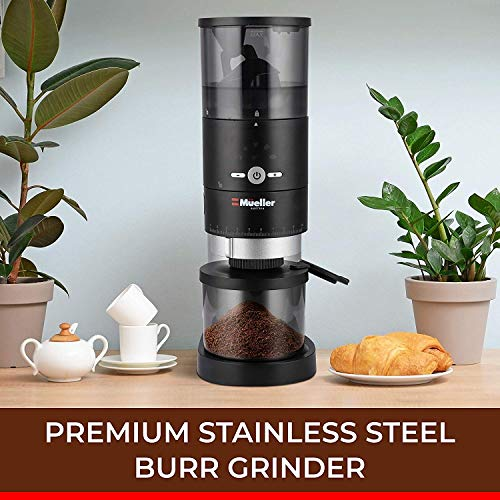 Mueller Ultra-Grind Conical Burr Grinder Professional Series, Innovative Detachable PowderBlock Grinding Chamber for Easy Cleaning and 40mm Hardened Gears for Long Life 2