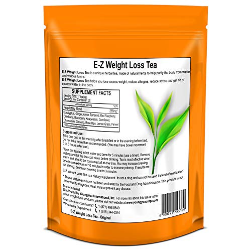 E-Z WEIGHT LOSS DETOX TEA - BELLY FAT - APPETITE CONTROL - BODY CLEANSE – COLON DETOX – WEIGHT LOSS 5