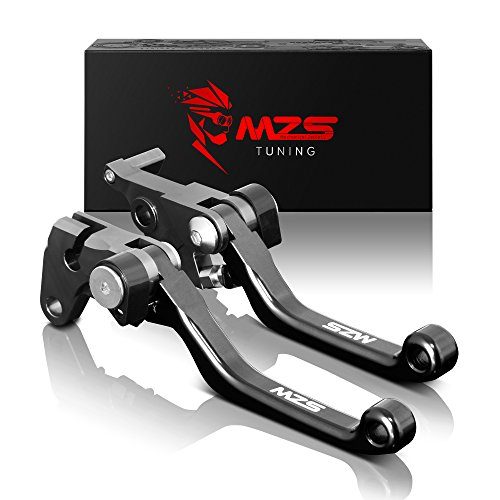 MZS Pivot Levers Brake Clutch CNC Compatible with Yamaha ATV Raptor 660 YFM660R 2001-2004/ Raptor 700 700R YFM700R 2000-2006 (Black)