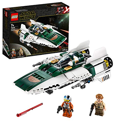 LEGO Star Wars TM - Caza Estelar Ala-A de la Resistencia, Set de Construcción de una Nave Espacial...