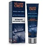 NO HAIR CREW Crème Dépilatoire Zones Intimes de Haut Gamme – Pour Homme...