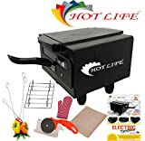 HOTLIFE Micro Smart Looking High Quality Electric Tandoor Combo 1500W (Black) Steel Element 2 Year Warranty for Heating Element Comboo (Black)