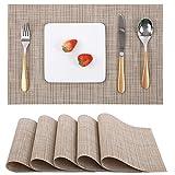 Myir JUN Lot de 6 Sets de Table, Tissé Lavable Napperons pour Cuisine ou pour...
