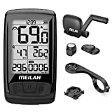 MEILAN M4 Wireless Bike Computer, IPX5 Waterproof Cycling Computer with 2.5 Inch Backlight LCD, ANT+...